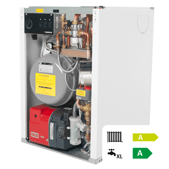 Warmflow UC90HE 70/90 Oil Combi Boiler White Cased 21-26Kw by Warmflow from Heat Group Supplies