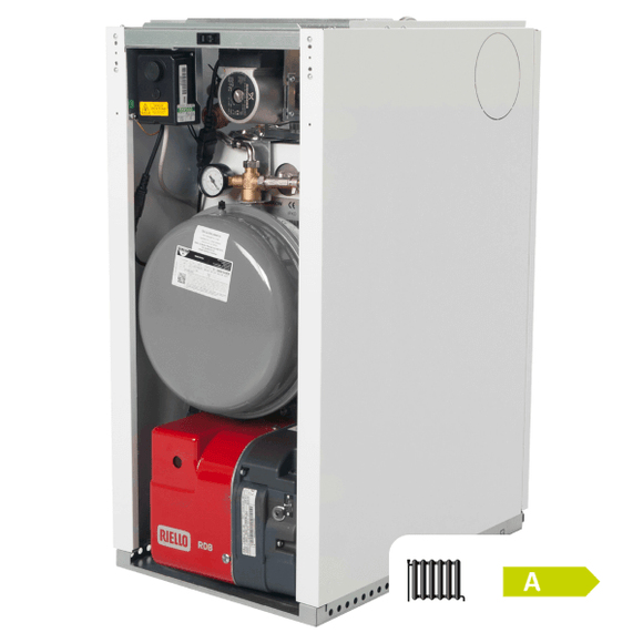 Warmflow US120HE 90/115 Utility System Boiler White Cased 26-33Kw by Warmflow from Heat Group Supplies