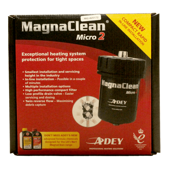 Adey Magnaclean Micro2 Inline Filter 22mm 500ml Black by Adey from Heat Group Supplies