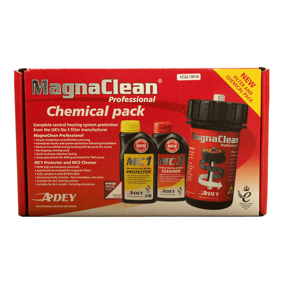Adey Magnaclean Professional Filter & Chem Pack Inc. Professional1 Filter +  Mc1+ & Mc3+ by Adey from Heat Group Supplies