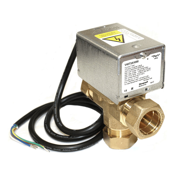 Honeywell V4073A1088 28mm 3Pt Mid-Pos Valve by Honeywell from Heat Group Supplies