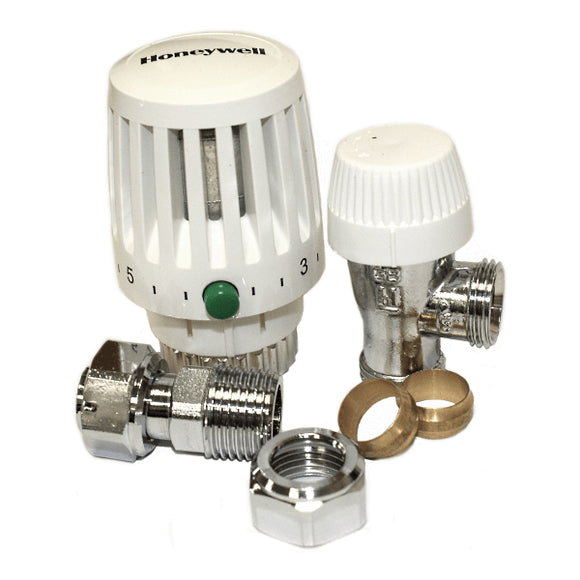Honeywell VT117-15A Valencia 15mm Angled TRV by Honeywell from Heat Group Supplies