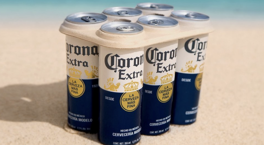 Corona Launches Plastic-Free Six Pack Rings