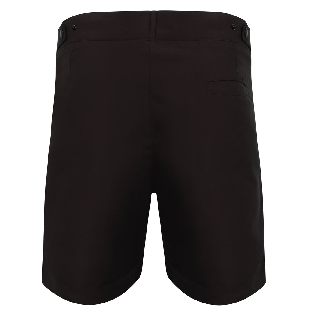 Naeco Long Swim Shorts - Black - Naeco - Luxury Mens Swimwear - Tailored Swim Shorts - Luxury Swimshorts