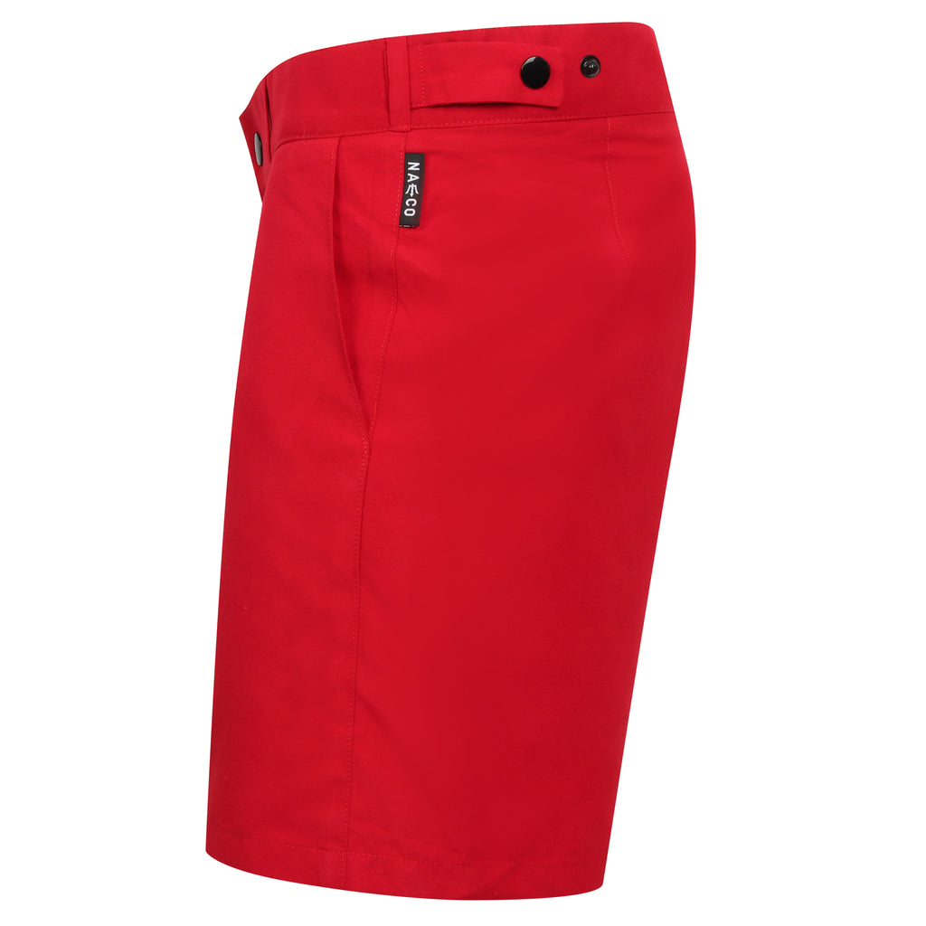 Naeco Long Swim shorts - Reef Red - Naeco - Luxury Mens Swimwear - Tailored Swim Shorts - Luxury Swimshorts