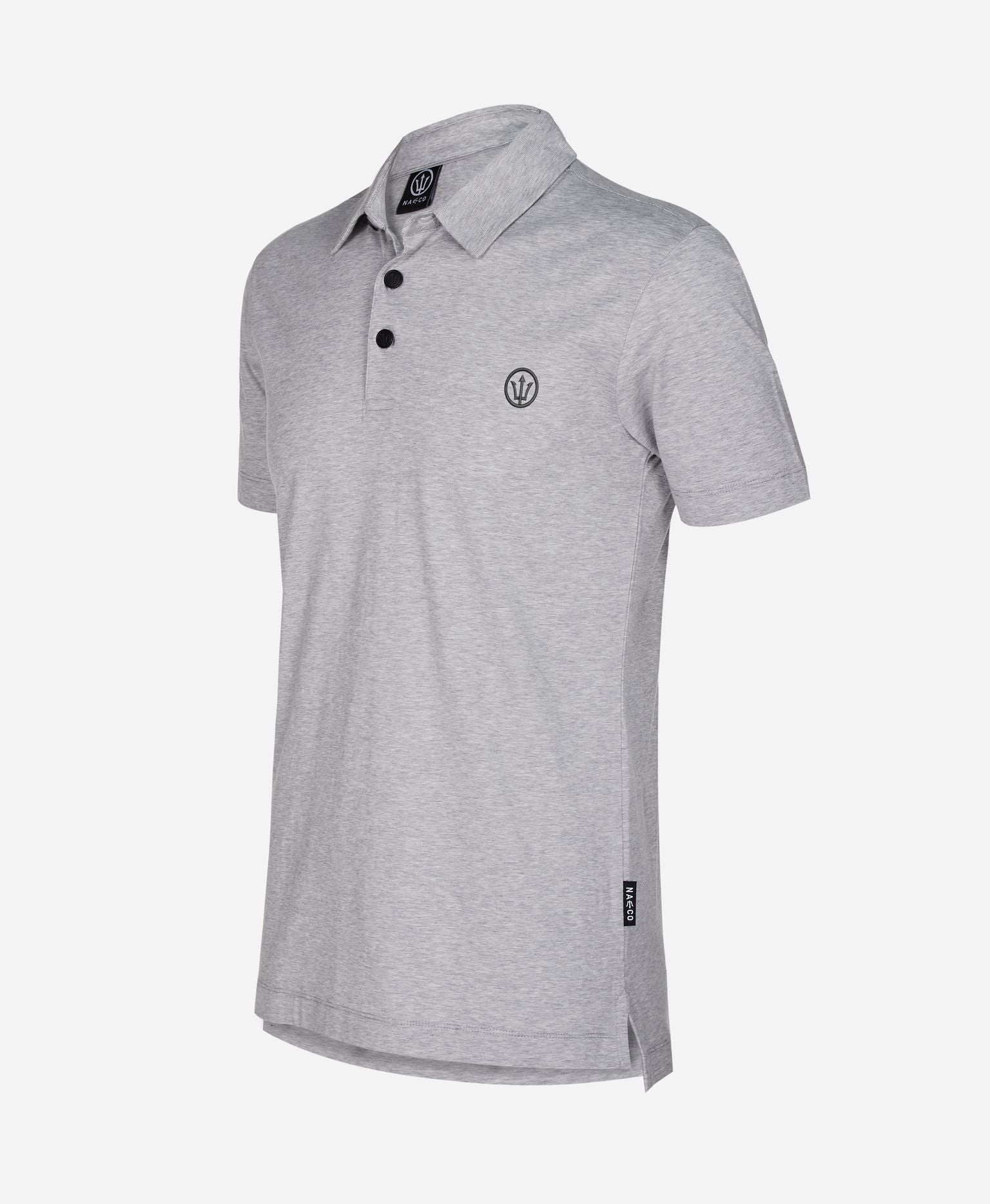 Organic Resort Polo - Beluga Grey