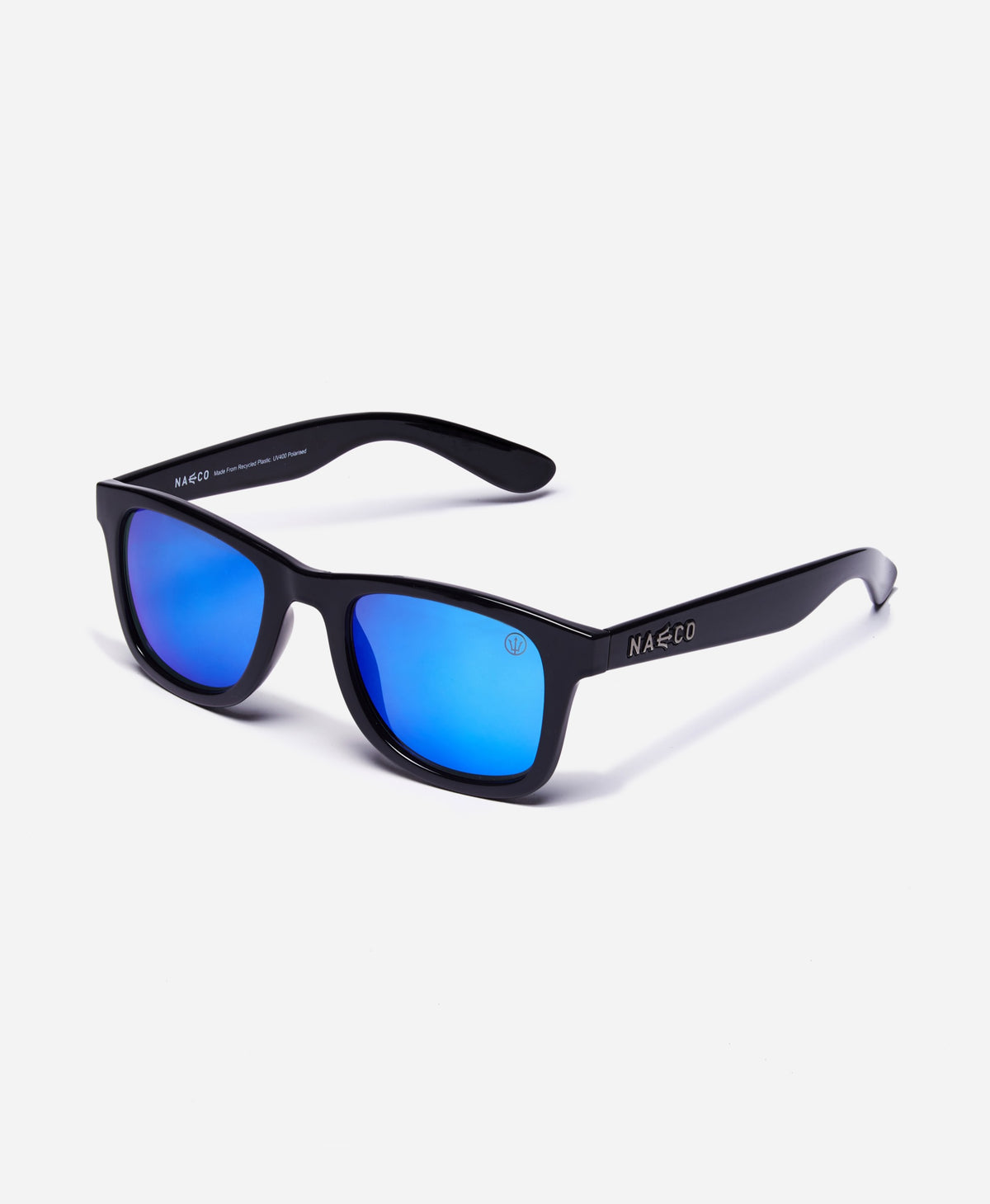 Trident UV Polarised Sunglasses - Gloss Frame - Mirrored Sea Blue