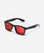 Trident UV Polarised Sunglasses - Gloss Frame - Red Revo Lens