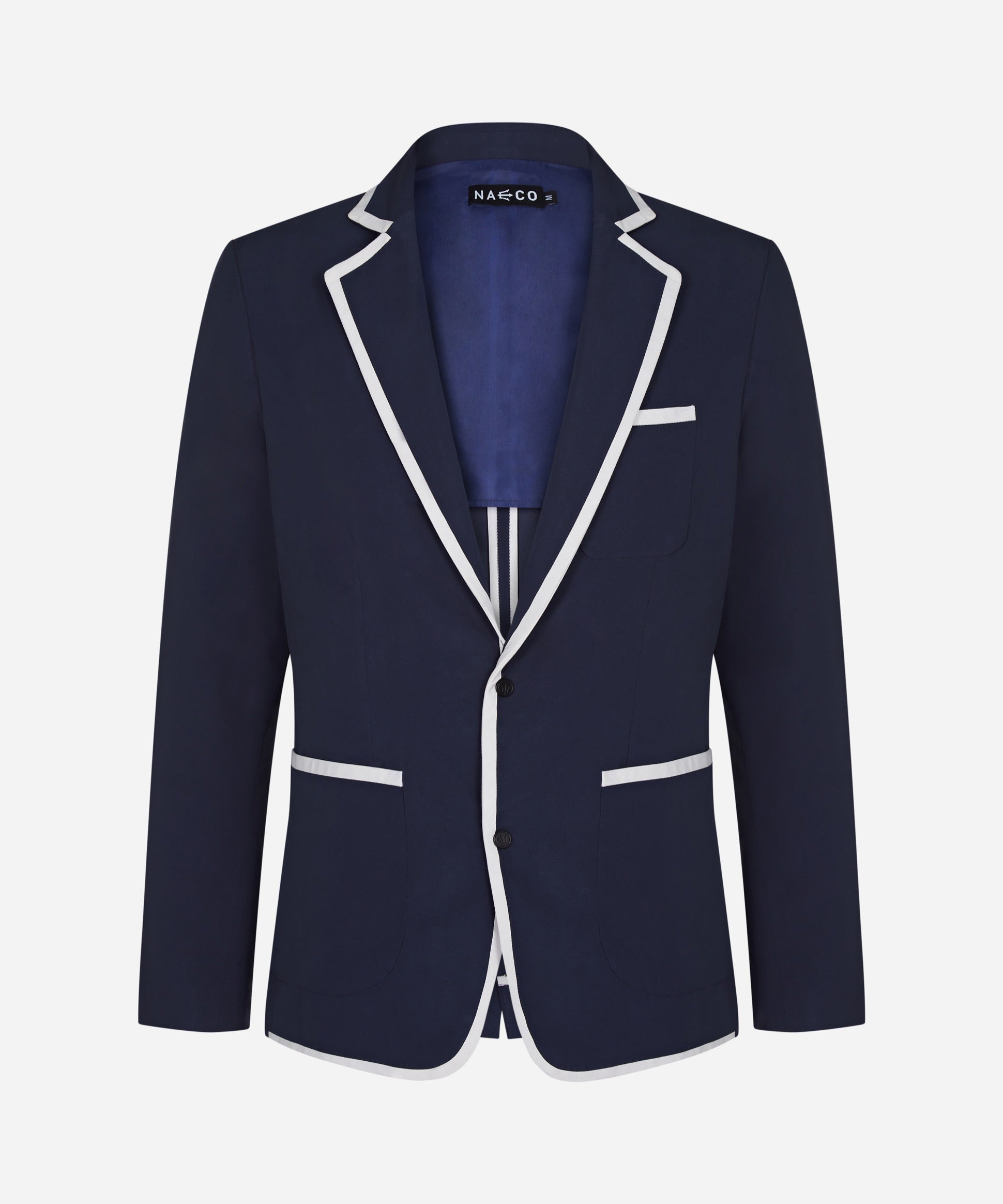 The Beach Blazer - Navy/ White Trim