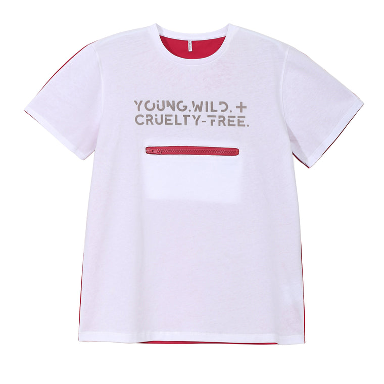 YOUNG. WILD + CRUELTY FREE. TEE (LIGHT)