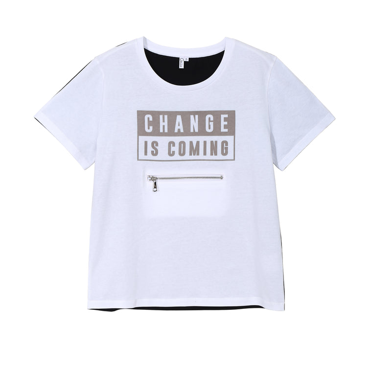 CHANGE IS COMING TEE (LIGHT)