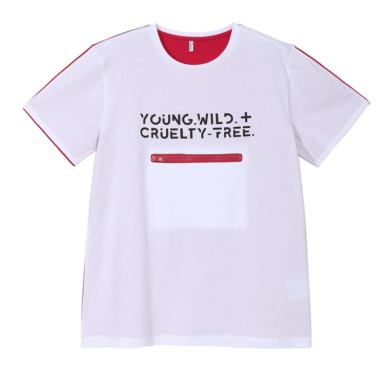 YOUNG. WILD + CRUELTY FREE. TEE (DARK)
