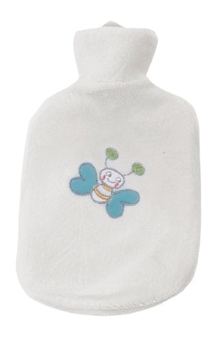 bébé-jou 3114 Heat-Retaining Bottle with Butterfly Cover White