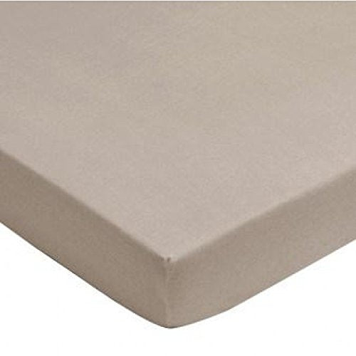 Jollein Fitted Sheet Interlock Double Jersey (75 x 150 cm, Brown)