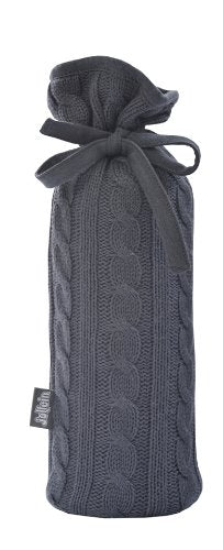 Jollein Flask Cover Cable Knit (Charcoal)