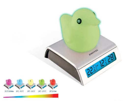 Switel Colour Changing Thermometer Duck