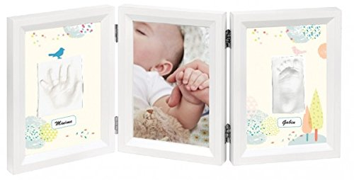 Baby Art My Baby Touch Dreamy Photo Frame - 3 Sections - White