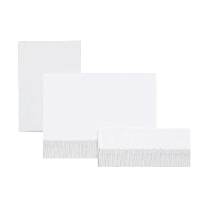 Cambrass Cot Flat Sheet (100 x 165 cm, Star Grey, Set of 3)