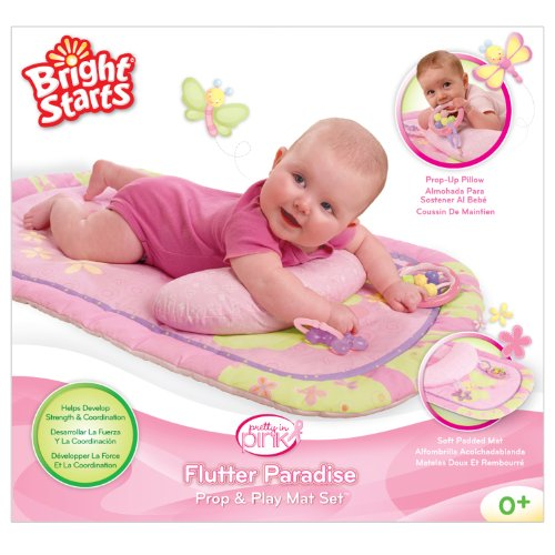 Bright Starts Tummy Prop & Play Mat, Pretty in Pink (Discontinued by Manufacturer)