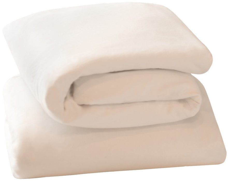 Clevamama Jersey Cotton Fitted Sheets (Moses/Pram, 33 x 72 cm, White, Pack of 2)