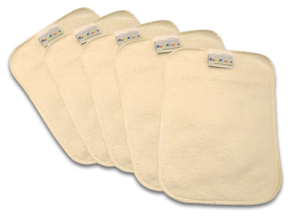 BabyKicks 5 Piece Premium Baby Wipes, Ivory, One Size