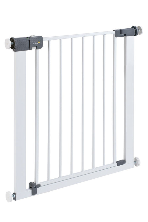 Safety 1st Quick Close ST Extra Secure Metal Child Safety Gate Stair Gate Extension Can be Extended Up to 136 cm for Clamping White 73 – 80 cm (from 6 – 24 Months)
