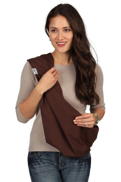 Hugamonkey Indoor Outdoor Travel Comfort Newborn Infant Cotton Brown Baby Sling - Small