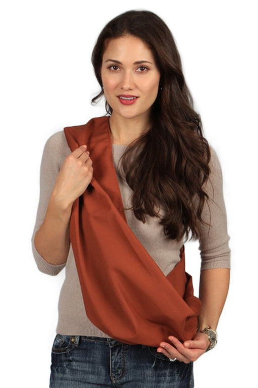 Hugamonkey Indoor Outdoor Travel Comfort Newborn Infant Cotton Burnt Orange Baby Sling - Extra Large