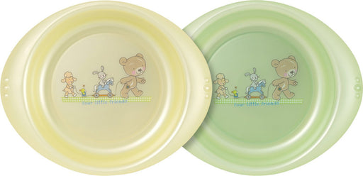Rotho Babydesign Best Friends High Edge Bowls (Vanilla Pearl/Mint Green Pearl, Pack of 2)