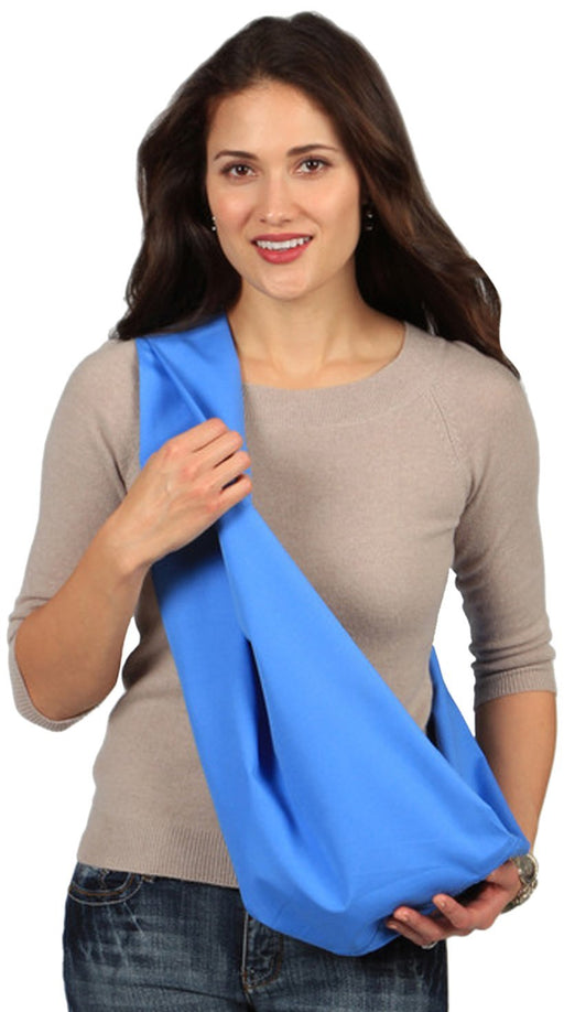 Hugamonkey Indoor Outdoor Travel Comfort Newborn Infant Cotton Blue Baby Sling - Small