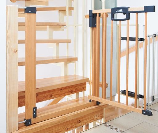 Geuther Stair Safety Gate Easy Lock (Wood, Range of Adjustment 80.5 - 88.5cm)