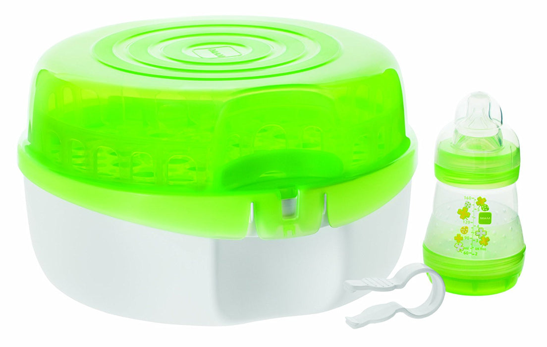 MAM Microwave Bottle Sterilizer, Green, 3-Count