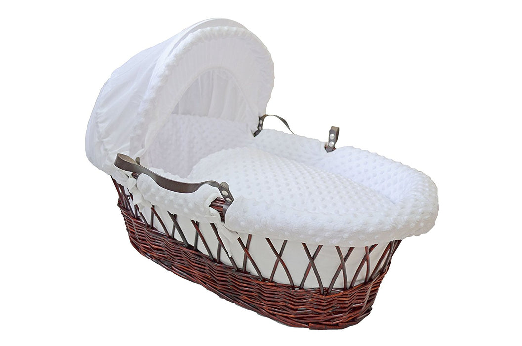 Cuddles Collection White Dimple Moses Basket Dressings Only