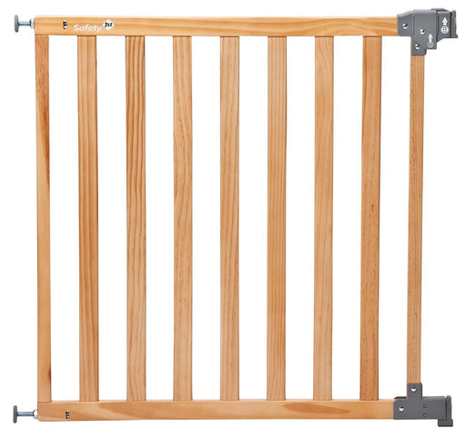 Safety 1st Simply Pressure Standard 24620104 High Quality Safety Gate / Pressure Fit Gate Made from Natural Wood / Installation without Screws