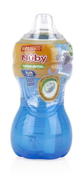 Nuby No-Spill Easy Grip Cup, 10 Ounce, Colors May Vary