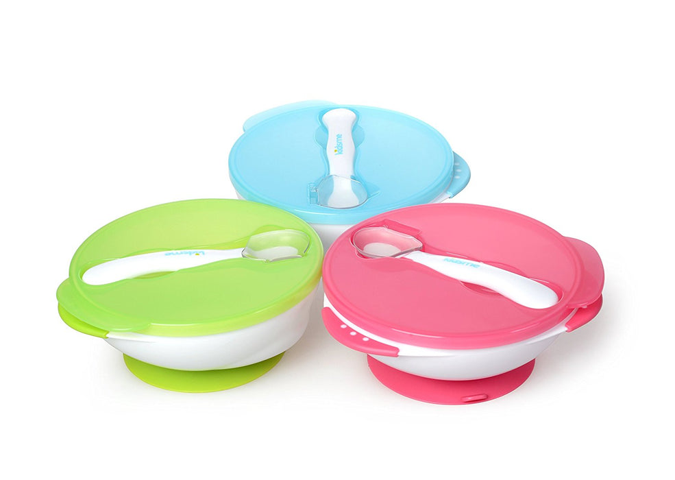 Kidsme Suction Bowl Set with Spoon (Pink)