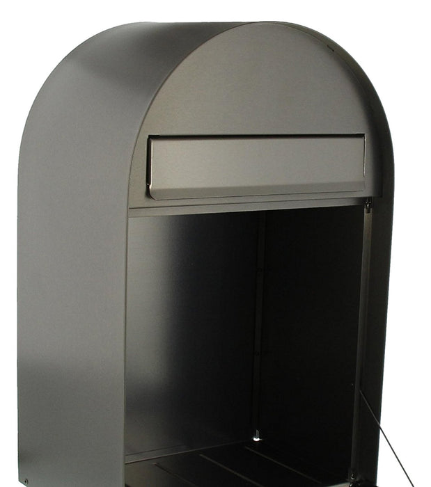 Burg-Wächter Slot in A4, Stainless Steel Letter Box with Aperture Stop, Silver, Nordic 3680 NI