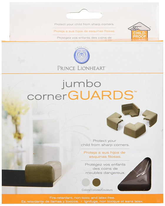 Prince Lionheart Jumbo Corner Guards (Chocolate)