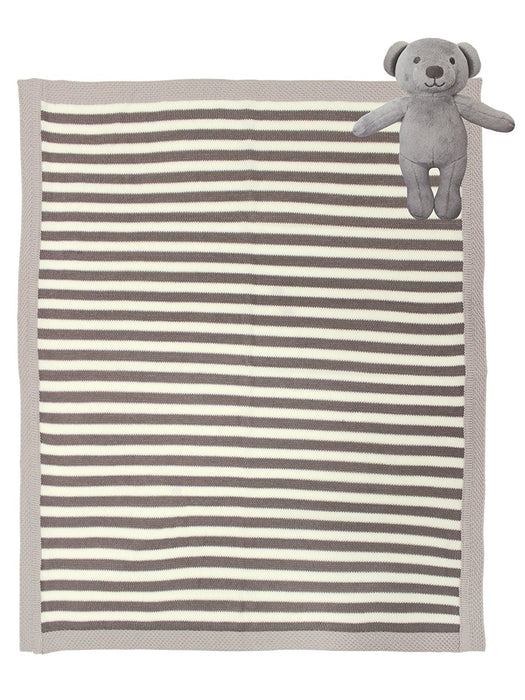 BabyStyle Baby Bear Blanket Plus Toy (Multi-Colour)