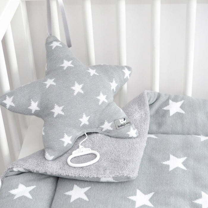 Baby's Only Musical Cushion Star Grey / White