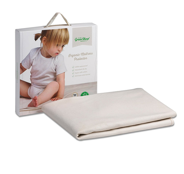 The Little Green Sheep Waterproof 70x120 Mattress Protector to fit Stokke Sleepi/Leander Cot
