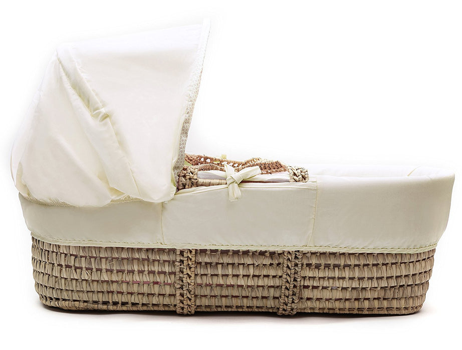 Kinder Valley Tiny Ted Moses Basket_Cream