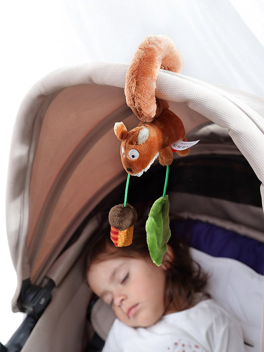 sigikid Squirrel Textile Clip Mobile for Car Seat