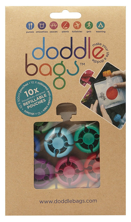 DoddleBags Reusable food pouch, Pack of 10