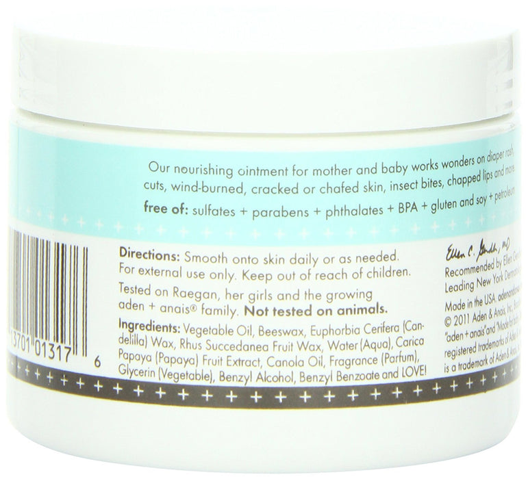aden + anais Mum and Bub Soothing Ointment Jar, 6 Fluid Ounce