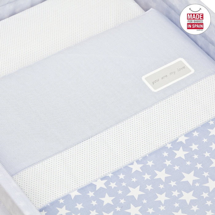 Cambrass Small Bed/Crib (55 x 88 x 72 cm, Next Star Blue)