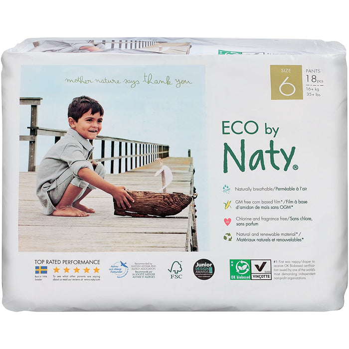 Naty by Nature Babycare ECO Pull On Pants - Size 6, 18 Pants