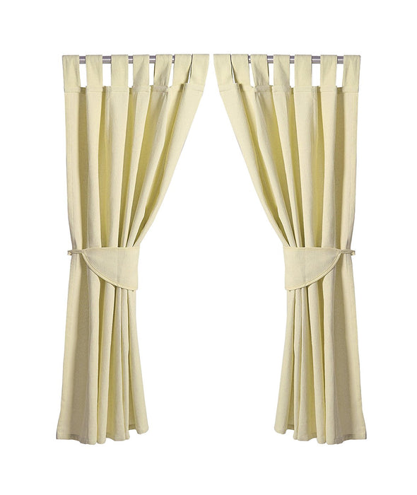 Baby Elegance Star Ted Curtains and Tabs (Cream)