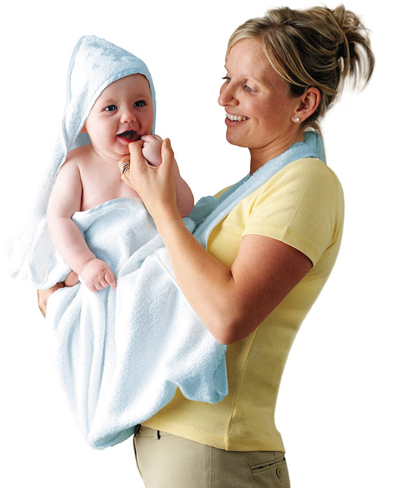 Clevamama Splash and Wrap Baby Bath Towel (Blue)