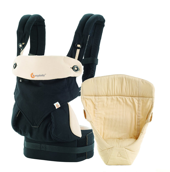 Ergobaby baby carrier collection 360 -bundle of joy- (3.2 - 15 kg), Black/Camel